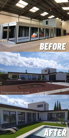 Building A Container Home, Container Buildings, Container Architecture, Shipping Container Home Designs, Container House Design, Shipping Containers, Dream House Exterior, Dream House Plans, Casas Containers