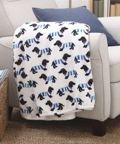 This #dachshund Stripes Azalea Throw is perfect! #zulilyfinds