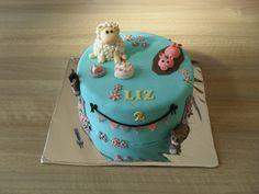 Farmer cake, animals, girl, soft colors/ Boerderij taart, dieren, meisje, zachte kleuren