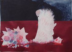 This is a print of my original drawing Les couleurs sont des fleurs faites pierres.  Dimensions : 21 cm x 29.7 cm (8.3 x 11.7)  Printed on Archival