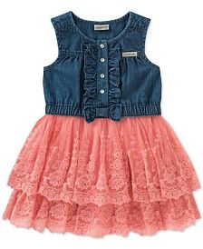 Tommy Hilfiger Tie-front Cotton Gingham Dress, Toddler Girls Kids & Baby - Dresses - Macy's Baby, Calvin Klein, Vest, Denim, Girls, Jackets, Tops, Fashion, Little Girls