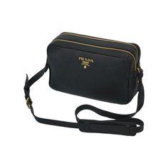 27fbd705160a Prada Women s Black Vtello Phenix Leather Crossbody 1BH079  Prada  QueenBee   TomFord  Fashion