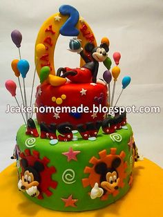 Mickey Mouse birthday cake.. love the letters