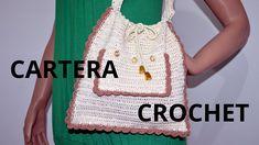 Cartera con Bolsillo en tejido crochet tutorial paso a paso.