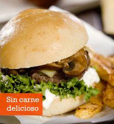 Recetas vegetarianas: Hamburguesas con hongos portobello