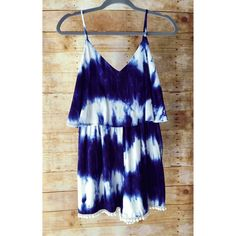 NWOT Audrey 3+1 Blue & White Tie Dyed Romper This soft, lightweight romper features a tassle, hemline, front & back V, and lined top. It has a elastic waist and a top flap that covers the bodice lining. Super cute for summer!!! This is brand new without tags, so no low ball offers please! Audrey 3+1 Other