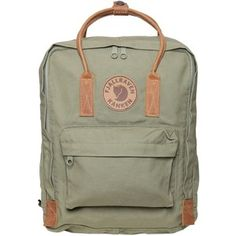FJALL RAVEN 16 L Kanken Canvas & Leather Backpack - Military Green