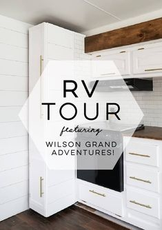 Tour This Remodeled Rv Filled With Lots Of White Shiplap And Warm Wood Tones From Wilsongrandadventures - Van Life Rv Camping, Glamping, Camping Hacks, Van Life Blog, Rv Life, Camper Life, Rv Cabinets, Paint Rv, White Shiplap