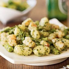 Gnocchi with Shrimp, Asparagus, and Pesto