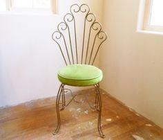 antique vanity chair black metal folding chairs 144 best stools images arredamento vintage etsy dressing stool