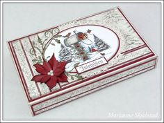 Mariannes papirverden. All Things Christmas, Christmas Time, Matchbox Crafts, Christmas Paper Crafts, Art Impressions, Heartfelt Creations, Scrapbooking, Nye, Diy And Crafts
