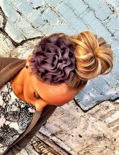 I would rock this.  GRAY Bloom Wedding Headband  Bridesmaid Hair by ThreeBirdNest, $17.50