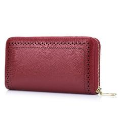 9ab50f9bb1d425 This is a women's wallet,made in Genuine leather,with great quality and  large