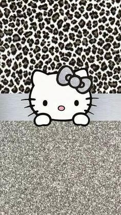 Grey and silver Hello Kitty wallpaper