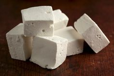Imagine making smores with these babies! Yummy homemade marshmallows!