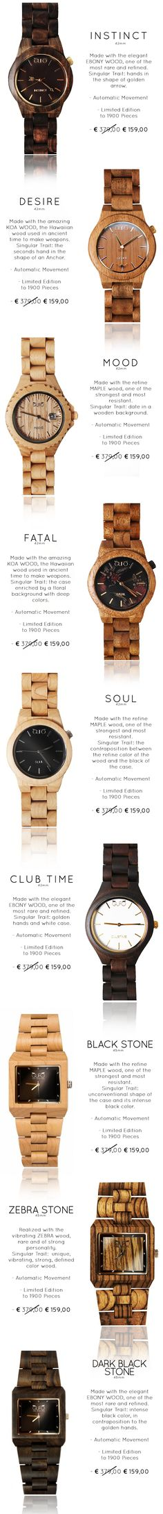 Join the Luxury Revolution: Amazing Handmade in Italy Timepieces made by Wood with Automatic Movement. Limited Edition to 1900 pieces.