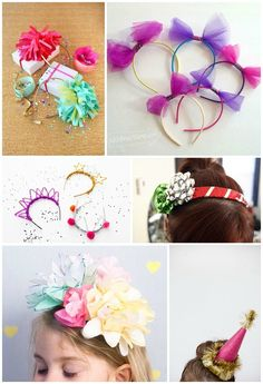 8 Cheery DIY Party Headbands. Fun to make for new year's or any party.
