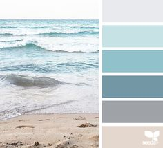 Design Seeds + Color Atlas by Archroma® Coastal Paint Colors, Coastal Color Palettes, House Color Palettes, Paint Colors For Home, Design Seeds, Kitchen Colour Schemes, House Color Schemes, Beach Color Schemes, Interior Colour Schemes