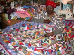 """Anna Williams, Louisiana quiltmaker had an incredible style and joie de vivre... click on the """"see more quilt photos here"""""""