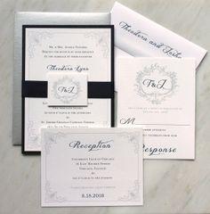 Classic Love  Elegant Wedding Invitations Romantic by BeaconLane, $100.00