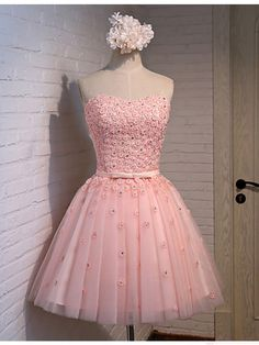 pink little flower homecoming dress,only need $124, #homecomingdresses #SIMIBridal