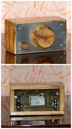 Hi-Fi crystal AM radio tuner / No. Ham Radio Equipment, Electronics Projects, Consumer Electronics, Antique Radio, 50 Years Old, Electronic Art, Hello Everyone, Woodworking, Crystals