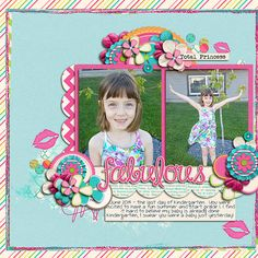 Fabulous | Leaf Clusters - Miss Fish Templates | For the Girls - Libby Pritchett | #scrapbook #digiscrapping #sweetshoppedesigns