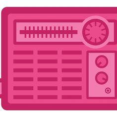 Pink Retro Radio #redbubblecreate #RedbubbleArtist