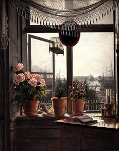 Martinus Rørbye(Danish, 1803–1848). View from the Artist's Window, 1825. Oil on canvas; 15 x 113/4 in. (38 x 30cm).