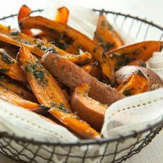 Herb sweet p otatoe fries