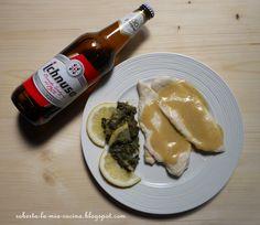 scaloppine di pollo del birraio con spinaci al limone