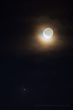 Saturn Moon Conjunction and Moonbow