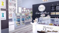 Sims4 Sweet Ice Cream Shop 冰淇淋店 - Ruby's Home Design