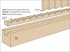 Image result for how to make wooden louvered windows