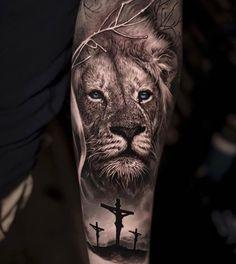 50 eye-catching lion tattoos that make you fancy ink - fantastic lion tattoos . - 50 eye-catching lion tattoos that make you fancy ink – fantastic lion tattoo ideas © tattoo arti - Lion Forearm Tattoos, Lion Head Tattoos, Mens Lion Tattoo, Cross Tattoo For Men, Tattoos Of Lions, Lion Tattoos For Men, Lion Arm Tattoo, Lion Shoulder Tattoo, Animal Tattoos For Men