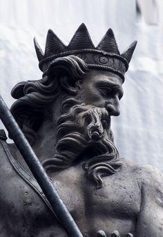 poseidon sculpture Neptune (by Tony Rdmn) Poseidon Tattoo, Poseidon Symbol, Rome Antique, Imagination Art, Greek Statues, Angel Statues, Greek Art, Greek Gods, Renaissance Art