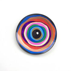 Plate Design, Design Art, Evil Eye Art, Record Crafts, Greek Decor, Keramik Design, Turkish Eye, Rainbow Decorations, Mini Canvas Art