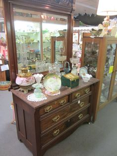 Walnut Eastlake Dresser.  burlingtonantiques.com