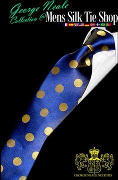 luxury exclusive expensive blue satin ties