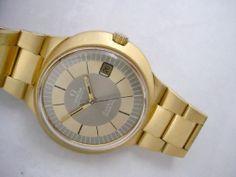 RARE Vintage Omega Dynamic 18K Solid Gold Case Bracelet | eBay