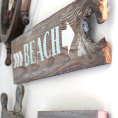 diy beach sign - Google Search
