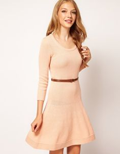 Enlarge ASOS Belted Skater Dress