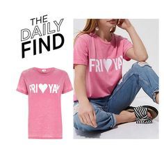 """Daily Find: River Island T-Shirt"" by polyvore-editorial ❤ liked on Polyvore featuring River Island and DailyFind"