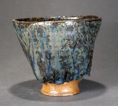 Woodfired Ash Glazed Chawan Blue Ash Tea Bowl by Paul Fryman