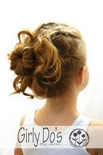 Sock bun with knots as added detail.