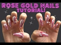 Rose Gold Nails TUTORIAL Mirror Chrome Powder How To Use - YouTube Chrome Powder, Rose Gold Nails, Nail Tutorials, Make It Yourself, Mirror, Detail, Search, Youtube, Pink Gold Nails
