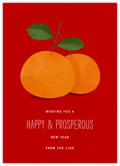 Lucky Clementines - Red - Paperless Post