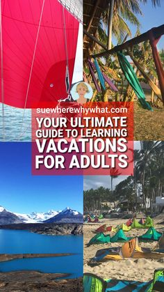 Here is all the inspiration for the new year you need…your ultimate guide to learning vacations for adults. Have you made your new year's resolutions yet? How about adding self-development to your list? Whether you are limited to staying local or keen to start to travel further afield, there is no reason to limit your imagination on how you can develop yourself in the process. It is time to plan and to dream. Summer Vacation Learning | Learning on Vacation | Vacation Learning #travel