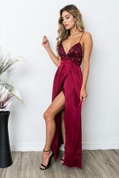 Prom Dresses Long #PromDressesLong, Burgundy Prom Dresses #BurgundyPromDresses