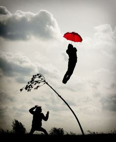 the red umbrella...up...up....and away....